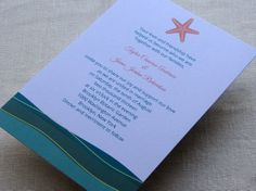 DIY Starfish Wedding Invitation  Beach Tropical by ImbueYouDIY