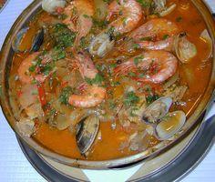 Risotto, Portuguese Recipes, Portuguese Food, Home Food, Spanish Food, Fish And Seafood, Shrimp, Main Dishes, Curry