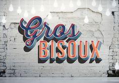 Gros Bisoux Wall by STEPHANIE MATHARET. //Hot Damn! #mural