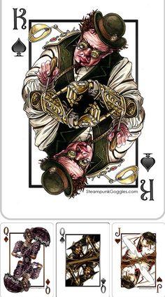 Steampunk Tendencies | Steampunk Goggles Playing Cards Deck   #PlayingCards #Steampunk #Kickstarter