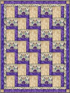 Stepping Up - Free 3 Yard Quilt Pattern