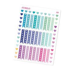 PLUM Paper Planner Stickers  Heart by PlannerStickerJubilo on Etsy