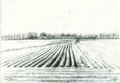 Waterlandkerkje - 04-05-14, graphite on paper (A5)  check: www.corneakkers.com #arts #kunst #Corné #Corne #Akkers #藝術 #アート #искусство #فن  #seni