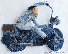 Купить джинсОвый мен - голубой, джинсовый стиль, джинса, джинсы, кукла, кукла текстильная