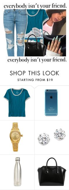 """""""†💎†💎†"""" by trxp-trxll ❤ liked on Polyvore featuring Aéropostale, Retrò, Rolex, Kenneth Jay Lane, Candie's, S'well, Givenchy and Pistola"""