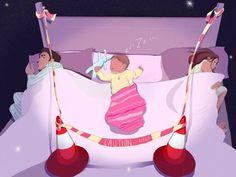 """¡Por supuesto que los niños no quieren dormir solos! No quieren, ni deben. Los bebés recién nacidos no están preparados para un salto a la nada: a una cuna sin movimiento, sin olor, sin sonido, sin sensación de vida. Esta separación del cuerpo de la madre causa más sufrimientos de lo que podemos imaginar y establece un sinsentido en el vínculo madre-niño."""" Laura Gutman"""