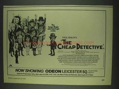 1978 The Cheap Detective Movie Ad - Peter Falk