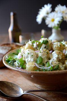 Potato Salad with Garlicky, Herb Dressing