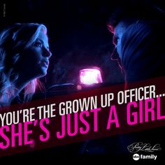 """You're the grown up officer... She's just a girl."" - Ashley 