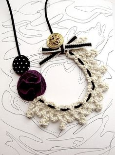 Crochet collar necklace by LolitaSummer, via Flickr