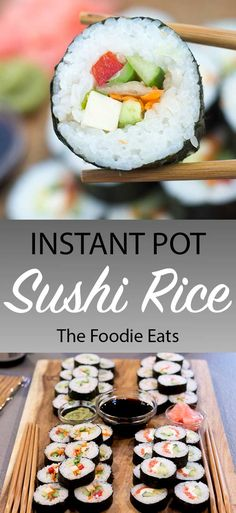 Perfect Instant Pot Sushi Rice | The Foodie Eats via @thefoodieeats