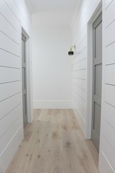 flooring decor The Forest Modern: Our Aged French Oak Hardwood Floors - The House of Silver Lining Modern Wood Floors, White Oak Floors, White Walls, White Painted Wood Floors, Modern Wood House, Modern Floor Tiles, White Wooden Floor, Light Wooden Floor, Rustic Floors