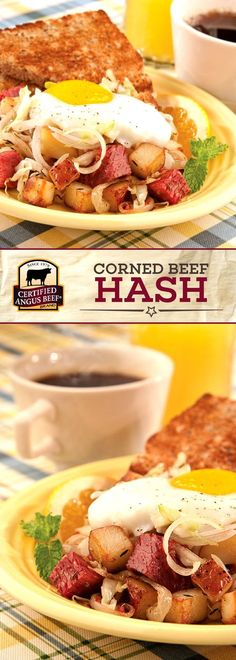Certified Angus Beef®️️️️️️️ brand Corned Beef Hash starts your morning off right with tasty corned beef, baby new red potatoes, and eggs baked to perfection! This DELICIOUS meal makes the perfect breakfast to keep you full and happy all morning long. #bestangusbeef #certifiedangusbeef #beefrecipe #easyrecipes #breakfastrecipes