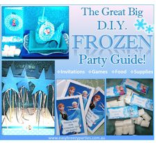The ultimate D.I.Y. Disney Frozen party guide! Includes free party printables, Frozen inspired party activities, invitations, party bags and food ideas. Read the whole blog at http://easybreezyparties.com.au/party-inspiration-and-ideas/item/68-the-great-big-diy-frozen-party-guide.html #Decorations. #frozen #easybreezyparties