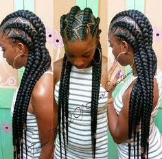 Ghana braids are growing in popularity and are a wonderful style. Check out these unique & hip styles of Ghana braids/Banana braids for your next braids hairdo! My Hairstyle, Girl Hairstyles, Natural Hairstyles, Black Hairstyles, Hairstyles 2018, Feed In Braids Hairstyles, Protective Hairstyles, Trendy Hairstyles, Twisted Hair