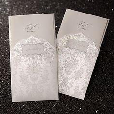 Regal Luxury Folded Wedding Invitation In Ivory (Set of 50) – AUD $ 81.51