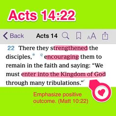 Acts 14:22