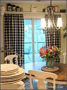 63 ideas farmhouse dining room curtains window treatments french country for 2019 Sliding Door Curtains, Patio Door Curtains, French Door Curtains, Dining Room Curtains, Sliding Patio Doors, Sliding Glass Door, French Doors, Patio Door Coverings, Glass Doors