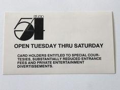 studio 54 - Open Tuesday thru Saturday