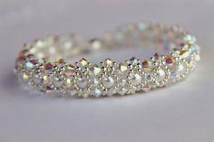 Winter Wonderland Bracelet With Safety Chain. $225.00, via Etsy.