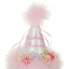 Boutique Baby Girl Accessory WHITE BIRTHDAY PRINCESS Floral Party HAT from Sophia s  Style Princesa Sophia 0b7990bb6f75