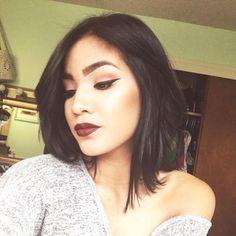 "Jojo on Instagram: "" S I N  #makeupoftheday #motd #sinlipstick #maccosmetics #lipstick #mattelipstick #darklips #beautyblog #makeupblog #youtuber #makeupartist #professionalmakeupartist #bridalmakeup #tartcosmetics #lorac #urbandecay #katvondbeauty #fallmakeup #fallmakeuplook #falllipstick #hudqbeauty #generationbeauty #ipsy"""