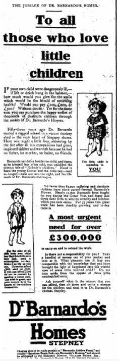 Barnardo's. 13 July, 1919
