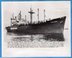 1954-Isbrandtsen-Freighter-Flying-Enterprise-II-Captain-Kurt-Carlsen-Wirephoto