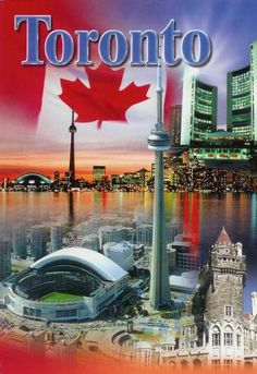 Toronto, Canada ✨ Home of two special superhero, hockey playing, fantastic, dear nephews! Places To Travel, Places To See, Canadian Things, Canada Eh, Holiday Destinations, Travel Posters, Vacation Spots, Scarborough Toronto, Post Card