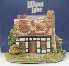"Lilliput Lane Figure ""FIVEWAYS COTTAGE"" NEW in Original Box w/ pamphlet & Deeds"