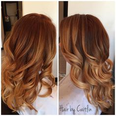 Balayage hair. Balayage highlights ombre sombre red brown blonde. Fall hair color.   See this Instagram photo by @caitlinrocksmylocks • 13 likes