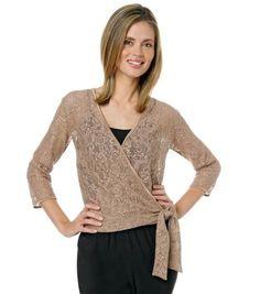 Carolyn Strauss Metallic Crochet Jacket