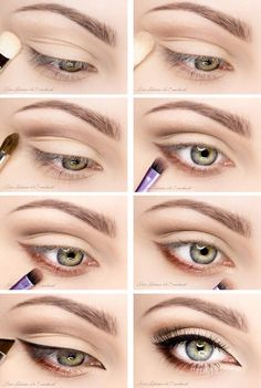 eye makeup for brown eyes ; eye makeup for blue eyes ; eye makeup tips ; eye makeup for green eyes Natural Eye Makeup, Eye Makeup Tips, Makeup Hacks, Skin Makeup, Makeup Inspo, Makeup Inspiration, Makeup Ideas, Day Eye Makeup, Makeup For Big Eyes