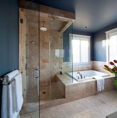 Fully Tiled Walk-in Shower by Vancouver Luxury Home Builder Wallmark Homes