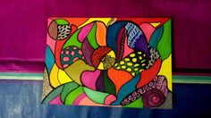 "My new art "" Colourful Heart ""     All copyrights reserved ~ Shaloo Webster 2014"