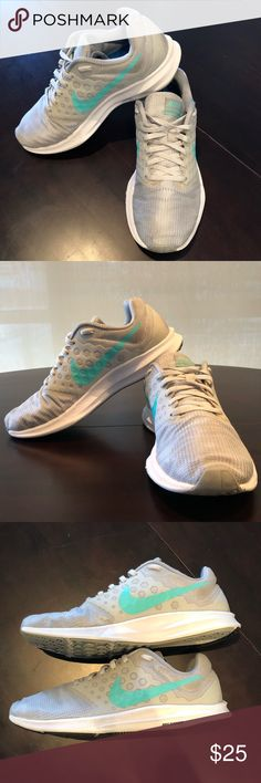 promo code 39739 3dc58 Nike Downshifter 7 Gray Mint Nike downshifter 7 in gray mint green. Size 8.
