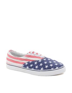 ASOS Sneakers With Stars and Stripes Print $30.55