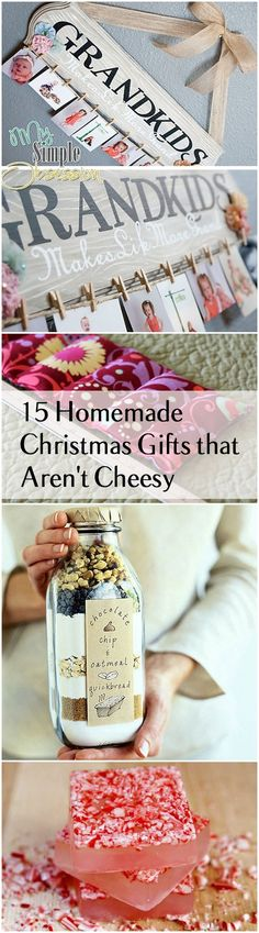 Homemade Christmas Gifts and Ideas that are thoughtful, inexpensive and easy!: