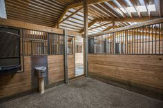 Morton Buildings horse barn interior in Steamboat Springs, Colorado.