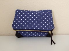Fold over zipper clutch by orshie on Etsy, Crafting, Trending Outfits, Zipper, Unique Jewelry, Handmade Gifts, Bags, Etsy, Vintage, Style