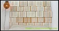 DIY Book Headboard / Design Every Day - Creative and original! As a book lover, I think this is a great idea for a headboard (except that I love my headboard that has shelves which holds my many books-I'm-reading! Book Headboard, Headboard Ideas, Bookshelf Headboard, Bookshelf Diy, Diy Bedroom Decor, Diy Home Decor, Diy For Bedrooms, Bedroom Ideas, Master Bedrooms