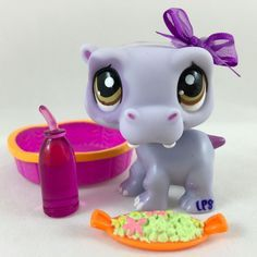 Littlest Pet Shop Cute Purple Hippo