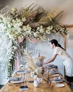 Super Ideas for wedding arch white flowers floral Boho Wedding, Wedding Table, Floral Wedding, Wedding Flowers, Quirky Wedding, Wedding Receptions, Wedding Trends, Trendy Wedding, Deco Floral