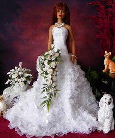 Doll wedding bouquet