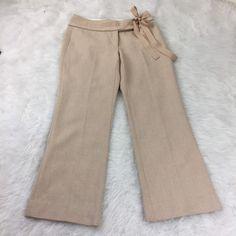 Banana Republic Factory Womens Size 8 Pants Wool Blend Lined  Cream   | eBay