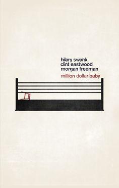 Sencillo y, a la vez, brutal póster minimalista de 'Million Dollar Baby' del genial Clint Eastwood