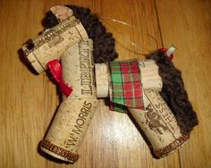 Wine Cork Horse Ornament by BearClanCollectibles on Etsy, $5.00