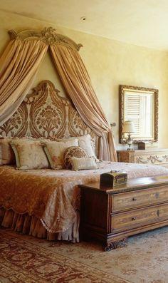 mediterranes schlafzimmerbett