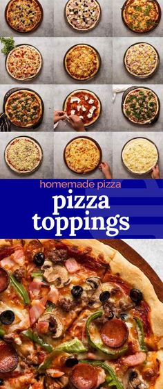 Recipes for pizza toppings, from all time favourites like Pepperoni and Supreme, to Italian classics like Quattro Formaggio and Margerita! Italian Pizza Toppings, Pizza Recipes, Healthy Recipes, Healthy Food, Recipetin Eats, Recipe Tin, Favourite Pizza, Italian Recipes, Supreme