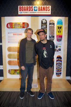 Tony Hawk and Ben Harper at The GRAMMY Museum in Los Angeles on Friday 12/7/12 for the Boards + Bands Press Conference.